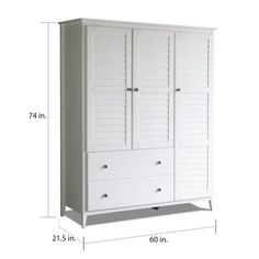 Shop for Grain Wood Furniture Greenport 3 Door Armoire. Get free delivery On EVERYTHING* Overstock - Your Online Furniture Shop! Pull Out Drawers, Wood Drawers, Tv Armoire, Wood Grain Texture, Large Shelves, Wardrobe Closet, Wardrobe Design, Single Doors, Adjustable Shelving
