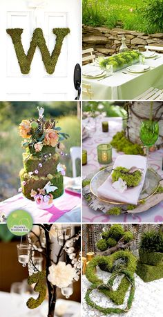 Green Moss Wedding Ideas - Inspiration Board. 'CLICK PHOTO' to take you to more Ideas.....