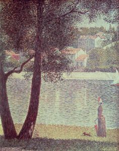 Georges Pierre Seurat - The Seine at Courbevoire, 1885.