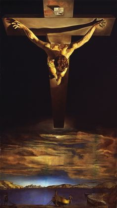 "Salvador Dali: ""Christ Of St. John Of The Cross"". Would make an incredible tattoo."