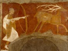 Hunting Scene , first half century (possibly From the hermitage of San Baudelio de Berlanga, near Soria; [ Leon Levi (from ; [ Gabriel Dereppe French, Paris and New York (by ; co-owned by George Henry Clowes and Elijah B Ancient Art, Ancient History, Prado, Lost, European Paintings, Medieval Art, 12th Century, Romanesque, Art Journals