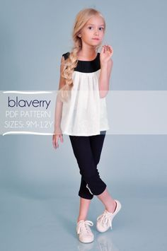 bc89c08d6a80 Girls Top Blouse pdf Pattern Nautical ss 2014 by blaverry on Etsy