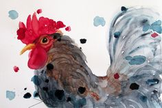 Rustic Country Farm Decor Rooster Art  by RedbirdCottageArt, $15.00