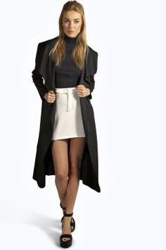 Katie Shawl Collar Belted Duster at boohoo.com