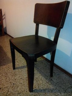 silla antigua en roble