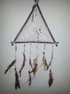 Native bohemian triangle dreamcatcher    https://www.etsy.com/listing/193989293/dreamcatcher-bohemian-ethnic-gypsy?ref=listing-8