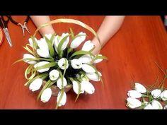 Diy Bouquet, Candy Bouquet, Crepe Paper Flowers, Origami Flowers, Cold Porcelain Tutorial, Candy Arrangements, Diy And Crafts, Paper Crafts, Flower Video