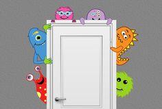 Monstruo amigos vivero Decor etiqueta leerlo puerta Hugger