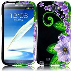 INSTEN For Samsung Galaxy S Note 2 N7100(AT & T) Design Phone Hard Case Green Flower