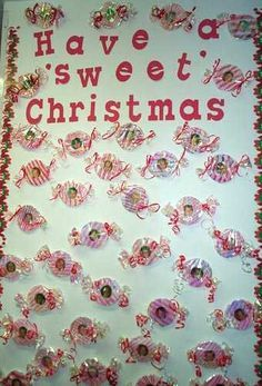 used this idea for our door decorations…my door said Merry Christmas from the kindergarten sweeties | best stuff