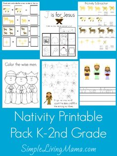 Nativity Worksheet Packet For Kindergarten And First Grade