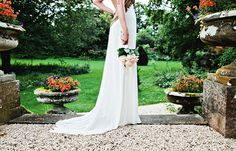 A Chic And Daring Backless Temperley London Wedding Dress.... #London #wedding #dress