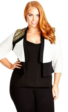 523f166aa3fc4 City Chic Sports Luxe Jacket - Women s Plus Size Fashion City Chic - City  Chic Your