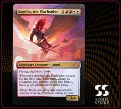 Aurelia, the Warleader - 2013 Strata Strike Magic the Gathering (MTG) alter. www.stratastrike.com