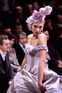 1996 - John Galliano for Givenchy couture - Chrystele St Louis