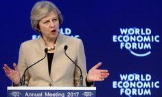 Reino Unido se presenta en Davos como el mayor defensor de los mercados y libre comercio