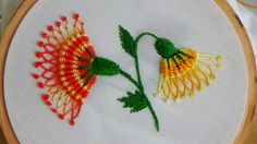 Hand Embroidery: Whipped spiderweb stitch
