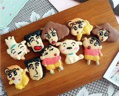 Crayon Shin-chan クレヨンしんちゃん family macaron