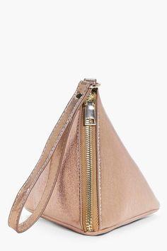 boohoo Tia Shimmer Pyramid Handstrap Clutch Bag 2f064498a9642