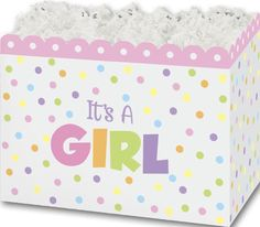 Patterned Specialty and Event Boxes - It's a Girl Gift Basket Boxes, 10 x 6 x 7 Boxes) - -- Learn more by visiting the image link. Girl Gift Baskets, Boxes And Bows, Coupon Holder, Coupon Organization, Detox Tea, Gift Packaging, Box Design, Girl Gifts, Baby Shower Gifts