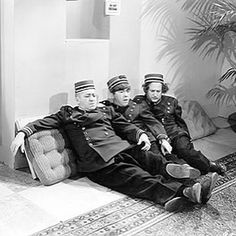 Break Time With The Three Stooges: The Boys are relaxing today. No shorts in production; no short released; no guest appearances on television. Come take a break with us and watch some Three Stooges clips, browse our articles, filmography, bios and trivia. Also, lots of new official licensed Stooges products. www.threestooges.com #movie #instagood #cute #sweet #lovethis #tv #fun #relax #friends #weekend #follow #slay #hilarious #threestooges #3stooges