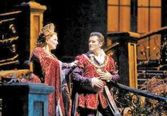 """Emily Magee as the Foreign Princess and Piotr Beczala as the Prince in Dvořák's """"Rusalka,"""" a soulful, fairy-tale opera about a water spirit in love with a human prince! At the Goddard Center."""