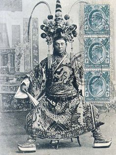 Chinese opera performer in Singapore, 1826(?). S)