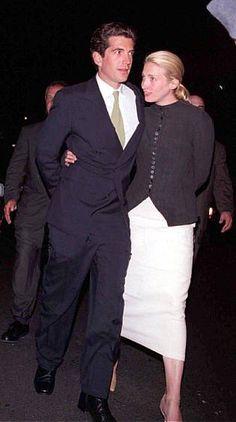 John F. Kennedy Jr. and Carolyn Bessette Kennedy - 1998 - Robin Hood benefit.