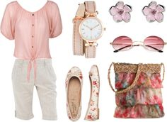 """can't help but blush a little"" by ameve ❤ liked on Polyvore"