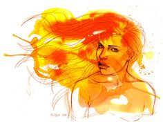 Fire by ChristineAltese love all of this woman's art.
