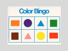 Bold bingo cards from an old educational aid, featuring all of your favourite shapes and a nice grid. Each card has the same shapes and colours, though the order varies. Each card measures Sonia Delaunay, Graphic Design Posters, Graphic Design Inspiration, Hard Edge Painting, Design Research, Bingo Cards, Art Logo, Book Design, Print Patterns