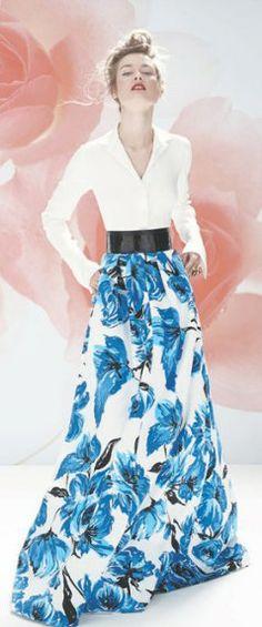 Neiman Marcus May 2014 - BεauԵίʄuɭ ♡ ✤LadyLuxury✤. Floral Fashion, Look Fashion, Runway Fashion, High Fashion, Womens Fashion, Fashion Design, Looks Chic, Glamour, Types Of Fashion Styles
