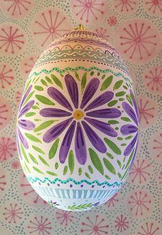 Egg * Purple Flowers