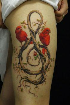 55 ideias de tatuagens para as coxas - Assuntos Criativos #tattoo #bird