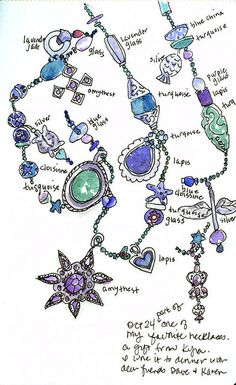 jewelry sketch, Jane LaFazio