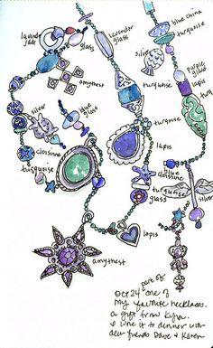 jewelry sketch, Jane LaFazio