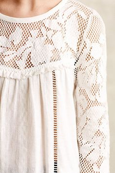Lacework Peasant Top - anthropologie.com