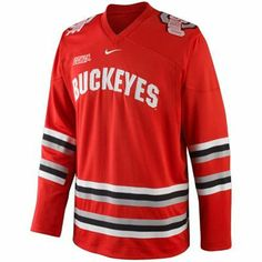 Nike Ohio State Buckeyes Twill Hockey Jersey - Scarlet