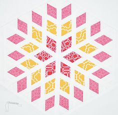 Blossom quilt block-another great color combo.