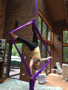Aerial Silks: Square foot hang!