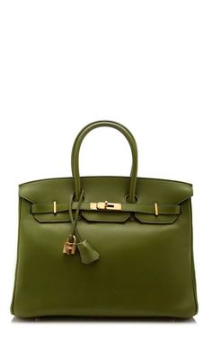 35Cm Hermes Pelouse Swift Leather Birkin by Heritage Auctions Special Collections for Preorder on Moda Operandi