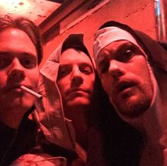 Bill Skarsgard, Joel Kinnaman and a flying nun;) Can we talk about how much fun this party must have been?!