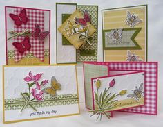 Casing these from Stampin Moments.  Need a little spring now.