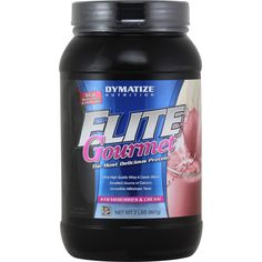 Dymatize Nutrition Elite Gourmet Protein Strawberries and Cream 2 lbs | Regular Price: $38.79, Sale Price: $27.99 | OvernightSupplements.com | #onSale #supplements #specials #DymatizeNutrition #ProteinPowder  | ELITE GourmetUltra High Quality Whey Casein BlendExcellent Source of CalciumIncredible Milkshake TasteThe Most Delicious Protein ELITE GOURMET PROTEIN is so delicious it tastes like a gourmet milkshake ELITE Gourmet is the perfect blend of Ion Exhcnage Whey Protein Con
