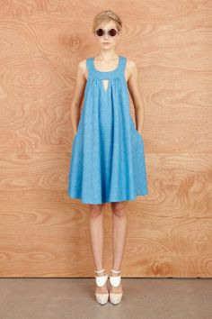 Karen Walker preSpring Summer 2014 ♥ blue ♥ drapery