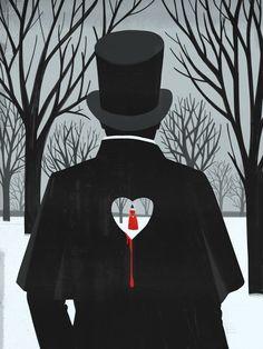 Eugene Onegin (Illustration by Emiliano Ponzi) Illustrations, Illustration Art, Eugene Onegin, Russian Literature, Gothic, Frankenstein, Dark Art, Sketches, Seasons