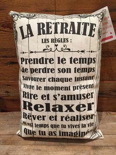 """"""" La retraite, les règles :Prendre le temps de prendre son tempsSavourer chaque instantVivre le moment présentRire et s'amuserRelaxerRêver et réaliserIl est temps que tu vives la vieque tu as imaginée """"10"""" X 16""""Fait au Québec Retirement, Messages, Album, Sayings, Words, Images, Scrapbooking, Punch, Health"""