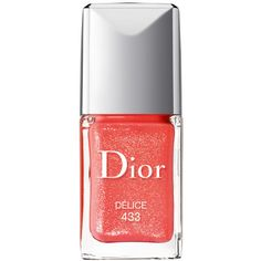 Dior Beauty Dior Vernis Sparkling Nail Polish, Delice ($24) ❤ liked on Polyvore