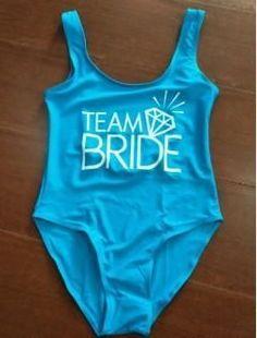 1b7e44ced7 TEAM BRIDE Swimsuit Bodysuit Printed One Piece Swimwear Women Monokini  Romper Jumpsuit Costume Girls Sexy Beach Bikinis Backless