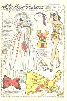 LARGE LOT OF UNCUT KATY KEENE COMIC PAPER DOLL PAGES 1950s * 1500 free paper dolls The International Paper Doll Society @QuanYin5 #QuanYin5 Arielle Gabriel artist *